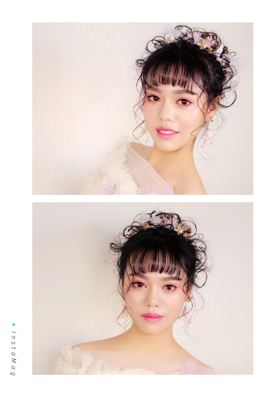 乐清阳洋化妆学校#梦幻森系新娘妆容造型,日系新风,唯美灵动图片